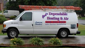 Curt's Dependable Heating & Air Van